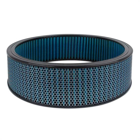 Airaid 800-419 SynthaFlow Air Filter, Blue, 4in Tall, Round Straight
