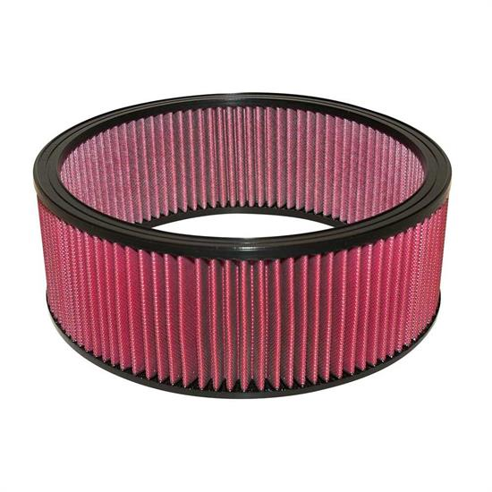 Airaid 801-307 SynthaMax Air Filter, Red, 5in Tall, Round Straight