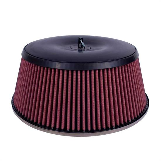 Airaid 801-460 Air Filter Assembly, 5in Tall, Red, Round Straight