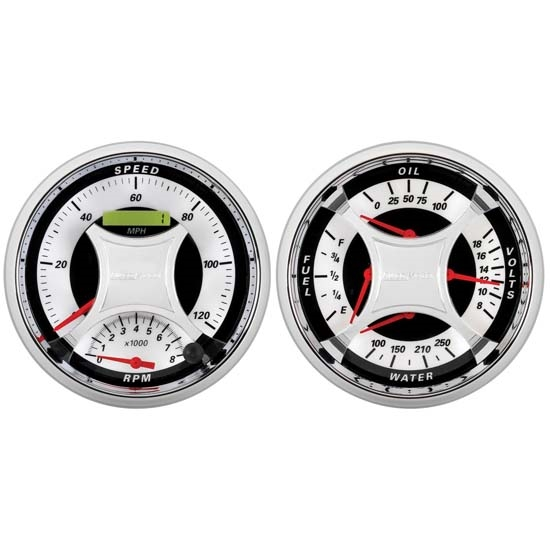 Auto Meter 1103 MCX Quad and Tach/Speedo Combo Gauge Kit, 5 Inch