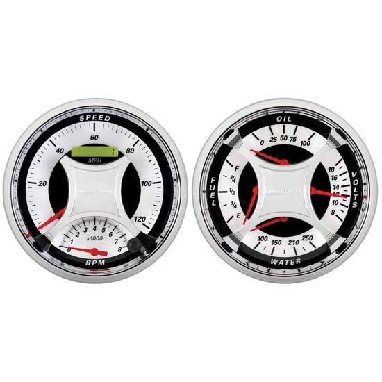 Auto Meter 1103 MCX Quad and Tach/Speedo Combo Gauge Kit, 5 Inch