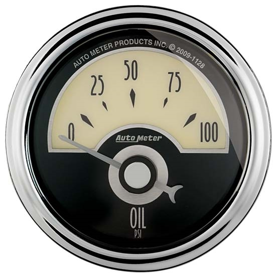Auto Meter 1126 Cruiser AD Air-Core Oil Pressure Gauge, 2-1/16 Inch