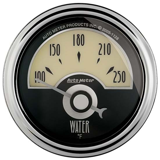 Auto Meter 1136 Cruiser AD Air-Core Water Temperature Gauge
