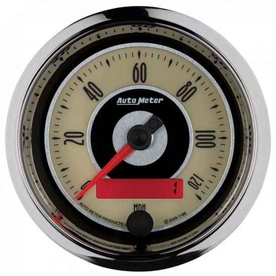 Auto Meter 1186 Cruiser Air-Core Speedometer Gauge, 3-3/8 Inch