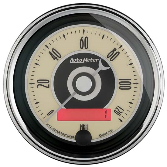 Auto Meter 1187 Cruiser AD Air-Core Speedometer Gauge, 3-3/8 Inch