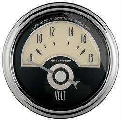 Auto Meter 1191 Cruiser AD Air-Core Voltmeter Gauge, 2-1/16 Inch