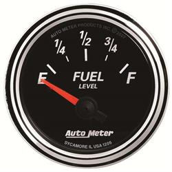 Auto Meter 1206 Designer Black II Air-Core Fuel Level Gauge