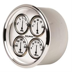 AutoMeter 1213 Old-Tyme White II Air-Core Quad Gauge, 5 Inch