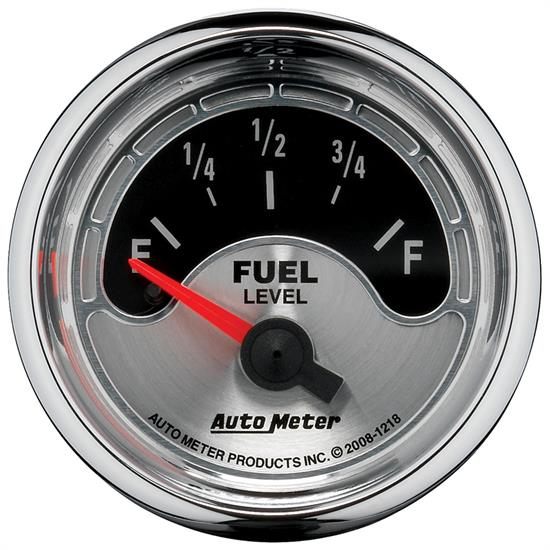 Auto Meter 1218 American Muscle Fuel Level Gauge, 2-1/16, 16/158 Ohm,