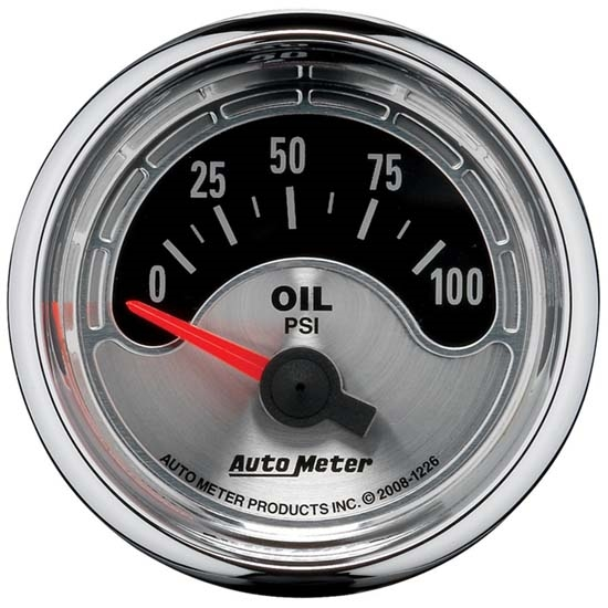 Auto Meter 1226 American Muscle Air-Core Oil Pressure Gauge