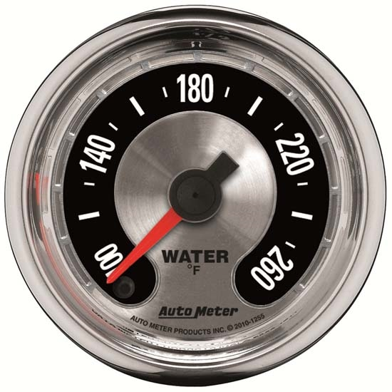 Auto Meter 1232 American Muscle Mechanical Water Temperature Gauge