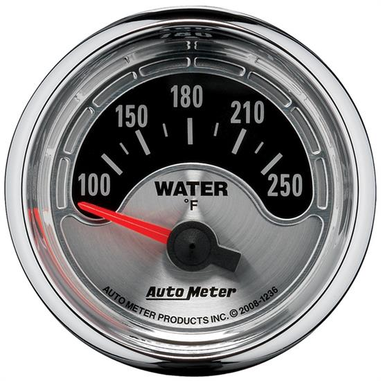 Auto Meter 1236 American Muscle Air-Core Water Temperature Gauge