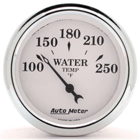 Garage Sale - Auto Meter 1237 Old Tyme White II Water Temp Gauge, 2-1/16 Inch