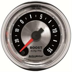 Auto Meter 1258 American Muscle Digital Stepper Motor Boost/Vac Gauge