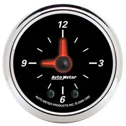 Auto Meter 1285 Designer Black II Digital Stepper Motor Clock Gauge