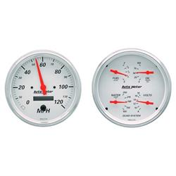 Auto Meter 1303 Arctic White Air-Core 2 Piece Gauge Kit