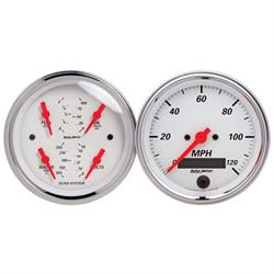 Auto Meter 1308 Arctic White Air-Core 2 Piece Gauge Kit