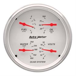 Auto Meter 1310 Arctic White Air-Core Quad Gauge