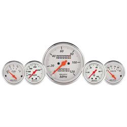 Auto Meter 1311 Arctic White 5 Piece Gauge Kit