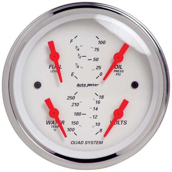 Auto Meter 1312 Arctic White Air-Core Quad Gauge