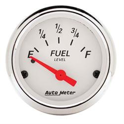 Auto Meter 1318 Arctic White Air-Core Fuel Level Gauge