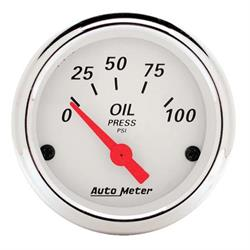 AutoMeter 1327 Arctic White Air-Core Oil Press. Gauge