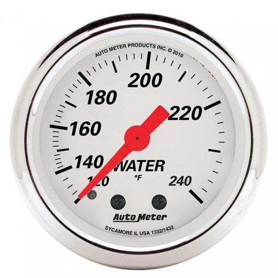 Auto Meter 7532 Phantom II 2-1//16 120-240 Degree F Mechanical Water Temperature Gauge