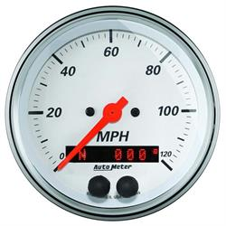 Auto Meter 1349 Arctic White Air-Core GPS Speedometer Gauge