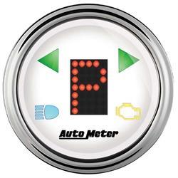 Auto Meter 1360 Arctic White Digital PRNDL Gauge