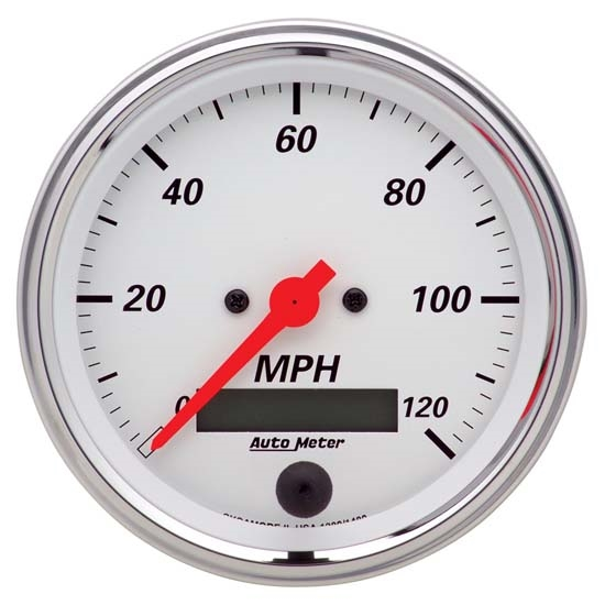 Auto Meter 1380 Arctic White Air-Core Speedometer Gauge