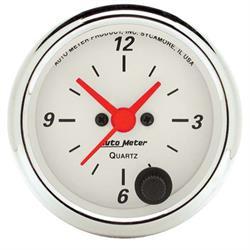Auto Meter 1385 Arctic White Quartz Clock Gauge