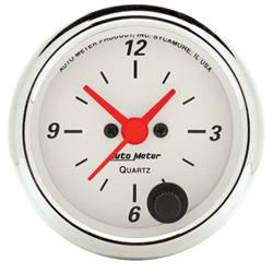 AutoMeter 1385 Arctic White Quartz Clock Gauge