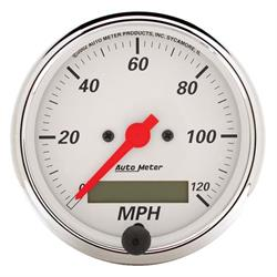 AutoMeter 1388 Arctic White Air-Core Speedometer Gauge