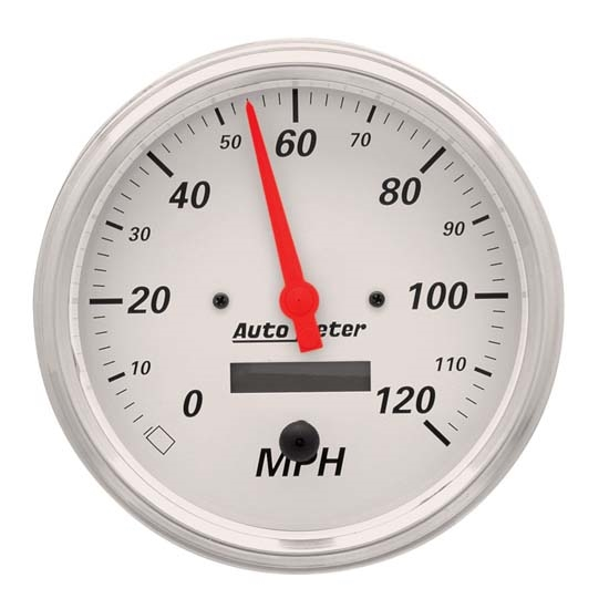 Auto Meter 1389 Arctic White Air-Core Speedometer Gauge
