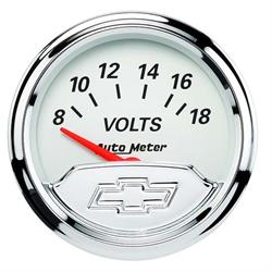 Auto Meter 1391-00408 Chevy Vintage Air-Core Voltmeter Gauge