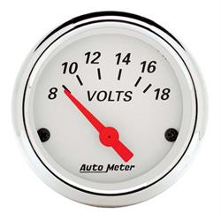 Auto Meter 1391 Arctic White Air-Core Voltmeter Gauge