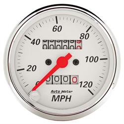 Auto Meter 1396 Arctic White Mechanical Speedometer Gauge