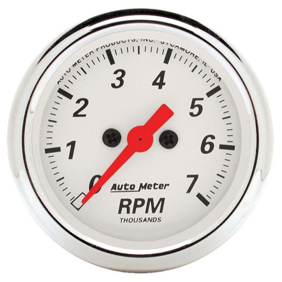 Auto Meter 1397 Arctic White Air-Core In-Dash Tachometer Gauge