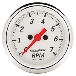 AutoMeter 1397 Arctic White Air-Core In-Dash Tachometer Gauge