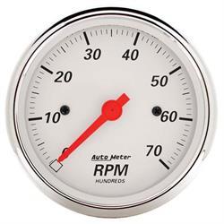Auto Meter 1398 Arctic White Air-Core In-Dash Tachometer Gauge