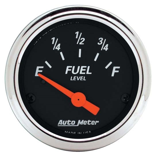 Auto Meter 1422 Designer Black Air-Core Fuel Level Gauge, 2-1/16 Inch
