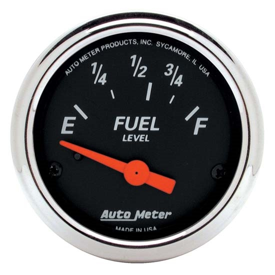 Auto Meter 1423 Designer Black Air-Core Fuel Level Gauge, 2-1/16 Inch