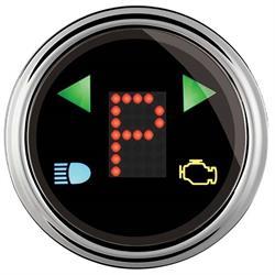 Auto Meter 1460 Designer Blk Digital PRNDL Trans Shift Indicator Gauge