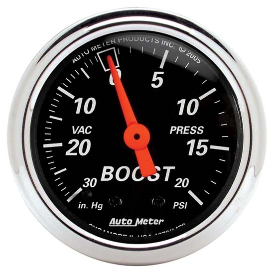 Auto Meter 7507 Phantom II 2-1//16 30 in Hg//20 PSI Mechanical Vacuum//Boost Gauge