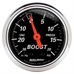 Auto Meter 1471 Designer Black Mechanical Boost/Vacuum Gauge
