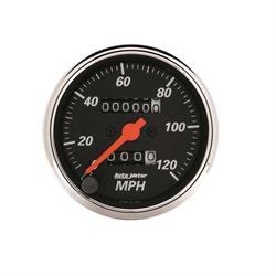 Auto Meter 1476 Designer Black Mechanical Speedometer Gauge