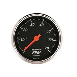 AutoMeter 1478 Designer Black Air-Core In-Dash Tachometer Gauge