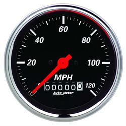 Auto Meter 1479 Designer Black Air-Core Speedometer Gauge, 3-3/8 Inch