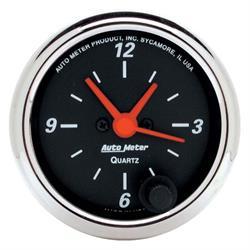 Auto Meter 1484 Designer Black Quartz Clock Gauge, 2-1/16 Inch