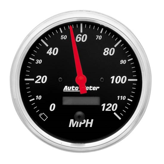 Auto Meter 1489 Designer Black Air-Core Speedometer Gauge, 5 Inch
